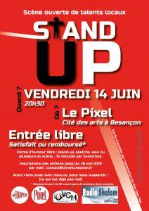 Affiche STAN UP 14/06/2019 au Pixel