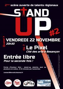 Affiche STAND UP 22/11/2019 au Pixel